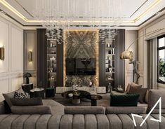 Home Room Design, Interior Design Living Room, Living Room Designs, Modern Living Room Design, Living Tv, Neoclassical Interior, Classic Living Room, Luxury Interior Design, Stylish Interior
