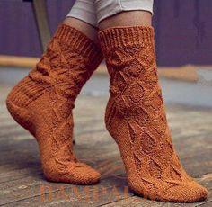 "Socks knitting ""Lynda"" pattern Вязаные носки спицами ""Линда"" схема"