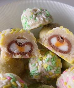 Recipe for Cadbury Cream Egg Surprise Cookies - It's a treat inside of a treat.