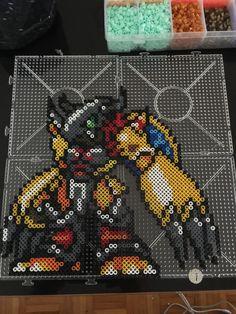 wargreymon Digimon pixel art