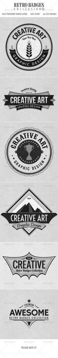 Retro Badges col.5