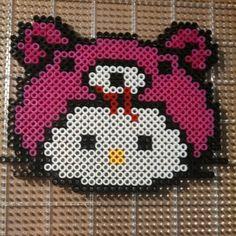 Hello Kitty Gloomy Bear perler beads by kittie42