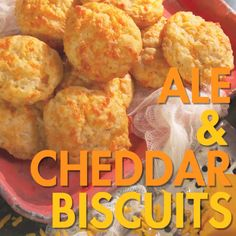 These savory Ale and Cheddar Biscuits make the perfect companion to accompany braised beef stew!
