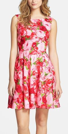 Blooming beautiful! | Floral Fit & Flare Dress.