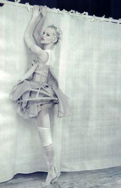 'A White Story' ~ Sasha Pivovarova by Paolo Roversi for Vogue Italy, April 2010