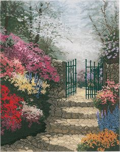 Thomas Kinkade The Garden Of Promise - Cross Stitch Kit