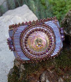 Bead Embroidery Bracelet   OOAK    Seed bead bracelet by Vicus, $125.00