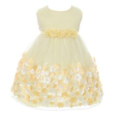 Kids Dream Baby Girls Yellow Taffeta Flowers Sleeveless Easter Dress Bright yellow Easter mesh dress by Kids Dream Beautiful taffeta rosettes Detachable chiffon flower trim with pearls Dress is sleeveless and has a crew neckline Girls Special Occasion Dresses, Girls Easter Dresses, Toddler Girl Dresses, Flower Girl Dresses, Baby Dresses, Girls Dresses, Yellow Dress, Nice Dresses, Amazing Dresses