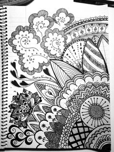 drawing zentangle doodle patterns cool easy drawings super heart draw designs doodles mandala project zentangles weheartit sharpie sketch painting pen