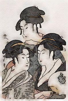 Printable Art, Instant Download, DIY Print At Home, Art Print, Watercolor, Japan, Black, Grey by edeblas on Etsy
