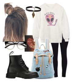 """""""Cold day in school"""" by marisabinov on Polyvore featuring Chicnova Fashion, Child Of Wild, Paul & Joe Sister and Dr. Martens"""