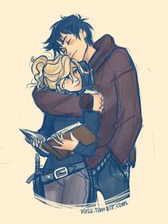 Percy and Annabeth-Percy Jackson and the Olympians by Rick Riordan is the best books ever!!!