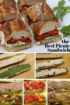 This quick sandwich made with roasted tomatoes, pesto and burrata is the perfect picnic meal, but also can be used as an appetizer or for a lunch or dinner at home. Make it in advance so the flavors can meld. Would be great as a veggie sandwich! Picnic Dinner, Picnic Parties, Outdoor Parties, Picnic Menu, Kids Picnic, Picnic Time, Summer Picnic, Comida Picnic, Picnic Lunches