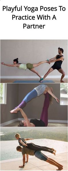 Easy Yoga Workout - 4-playful-yoga-poses-to-practice-with-a-partner1 (Fitness For Beginners Motivation) Get your sexiest body ever without,crunches,cardio,or ever setting foot in a gym
