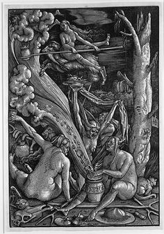 Hans Baldung (called Hans Baldung Grien) (German, 1484/85–1545). The Witches' Sabbath, 1510. The Metropolitan Museum of Art, New York. Gift of Felix M. Warburg and his family, 1941 (41.1.201) #witch #Halloween