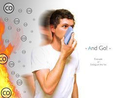 Smoke Detector and Mask in 1 by Germain Verbrackel