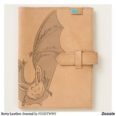 Shop Batty Leather Journal created by FIGHTWNS. Leather Journal, Wallet, American, Store, Pocket Wallet, Tent, Larger, Diy Wallet, Business