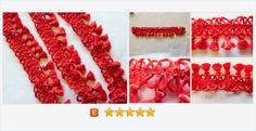 #Vintage #Red #Tassel  Trim  #VintageSupply #gotvintage #crafting #sewing
