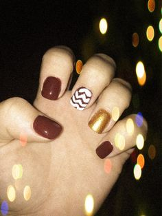 Fall nail design-- this white is a little thick though