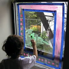 Window Painting Art Activity for Kids: small amount of dishwasher liquid in tempera paint
