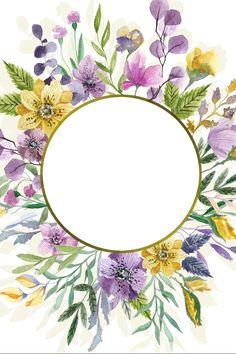 Wreath Watercolor, Watercolor Cards, Watercolor Flowers, Flower Wallpaper, Wallpaper Backgrounds, Iphone Wallpaper, Wallpapers, Deco Floral, Floral Border