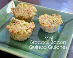 ThriceTheSpice: Mini Broccoli Bacon Quinoa Quiches