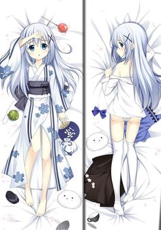 Camplayco Is the order a rabbit? Kafuu Chino Logo Pillow Cases Cosplay -- More info could be found at the image url.
