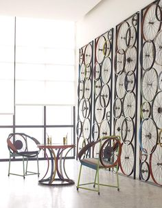 Decorating your home with bicycle parts