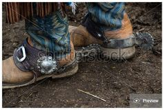 Giddyup #cowboy! #StockPhoto of #old #west #boots and #spurs is available at http://www.shutterstock.com/pic.mhtml?id=416420641 copyright by ©GEvans