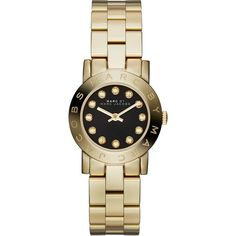 Marc Jacobs Women's MBM3336 Amy Crystal Gold-Tone Stainless Steel Watch