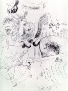 Marc Chagall 'Dead souls' by Gogol