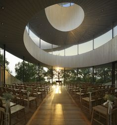 Ribbon Chapel by Hiroshi Nakamura. The indulgent stone and glass are entirely tuning with the nature.