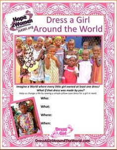 Dress a Girl Around the World - Dress a Girl flyer