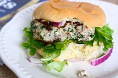 spinach, feta and turkey burgers