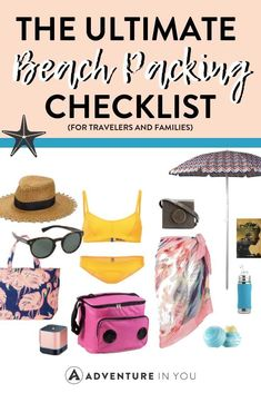 Beach Packing List   Planning a trip to the beach? Here's your ultimate beach packing list guide to make sure you don't forget any travel essentials! #beachtrip #packing list #beachpackinglist