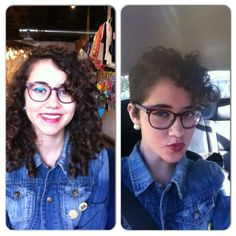 Long curly to pixie curly #nothingbutpixies