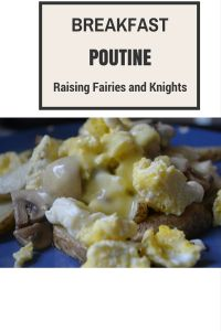 Breakfast Poutine - Try out this amazing breakfast poutine with potatoes, cheese curds and a poached egg covered in Hollandaise sauce. Can you say yum!
