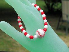 St Louis Cardinals bracelet.  Baseball bracelet.  by NammersCrafts, $10.50