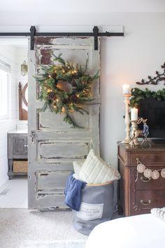 Christmas barn door