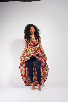 Detta Top (Pre Order) - would love to rock this look Latest African Fashion Dresses, African Print Dresses, African Print Fashion, African Dress, Fashion Prints, African Prints, African Attire, African Wear, African Women