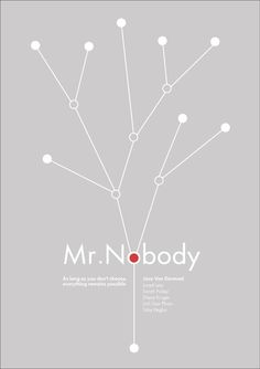 Mr Nobody Release Date: 2009 Construction: France Germany Belguim Canada Directed by: Jaco Van Dormael Cult Movies, Top Movies, Movies And Tv Shows, Movies To Watch, Minimal Movie Posters, Cool Posters, Mr Nobody, Alternative Movie Posters, Film Books