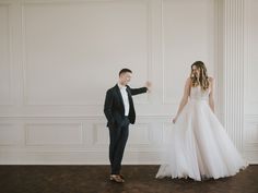 REAL WEDDING: RYAN + JORDAN {Love in Lake Charles} http://www.neworleansweddingsmagazine.com/love-in-lake-charles/ A light and airy wedding at the Historic Calcasieu Marine National Bank. PHOTOGRAPHER: Catherine Masters, OfRen |  BRIDAL GOWN: Madison James, A-Net's Bridal Boutique | GROOM/GROOMSMEN ATTIRE: Men's Wearhouse |  HAIR: Amy Louviere, Salon Lindsay (bride) | MAKEUP: Taryn Terrell