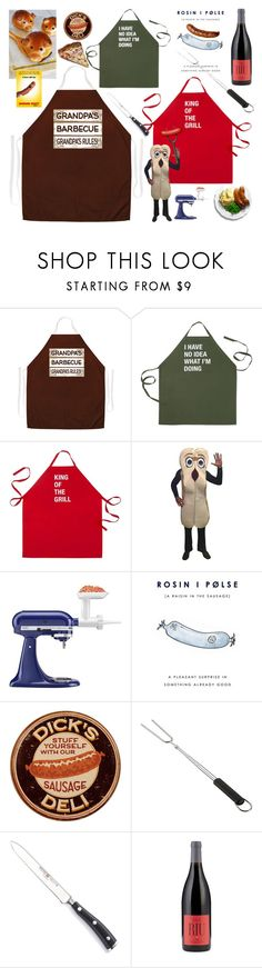 """""""Hot dog barbecue party for 3 generations"""" by didesi ❤ liked on Polyvore featuring interior, interiors, interior design, home, home decor, interior decorating, About Face Designs, KitchenAid, Crate and Barrel and Wüsthof"""