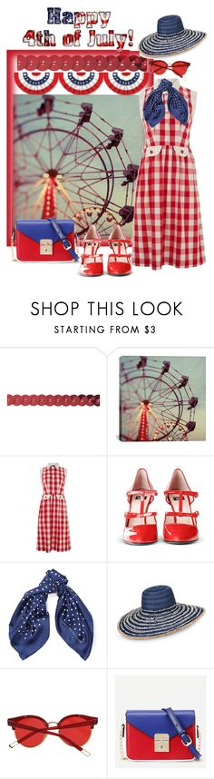 """""""An Old Fashioned 4th of July Party"""" by sherrysrosecottage-1 ❤ liked on Polyvore featuring iCanvas, Lowie, Boutique Moschino, Armani Jeans and WithChic"""
