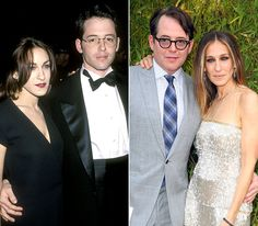 """Sarah Jessica Parker and Matthew Broderick  In 1991, Parker met Broderick at an off-Broadway play he directed, starring her brother, Toby. The actors got married on May 19, 1997, at an out-of-use synagogue in New York City. """"I wore black on my wedding day, and I really regret that,"""" Parker later admitted to Marie Claire. The stars are parents to son James Wilkie (born October 2002) and twin daughters, Marion Loretta and Tabitha Hodge (born via surrogate in June 2009)."""