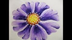Cómo Pirograbar y Pintar Flor en Tela Beige