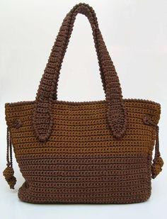 Patrón para bolso café-camello dos tamaños. Muy útil para tus actividades diarias, para cargar con tus labores de tejido y hasta para viajar