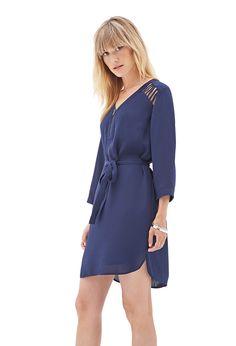 Zippered Cutout Shift Dress   LOVE21 - 2000061598