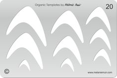 No 20 Clear Acrylic Template/Stencil for Polymer/Metal Clay/Jewellery/Crafting - a slimmer wave shape, would make a lovely 'swoop' shaped brooch or earring - In Stock - £9