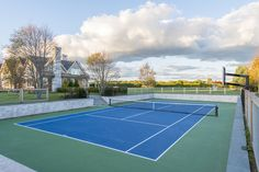 Har-tru sunken tennis court. Tennis at home! #farrellbuildingcompany #customize